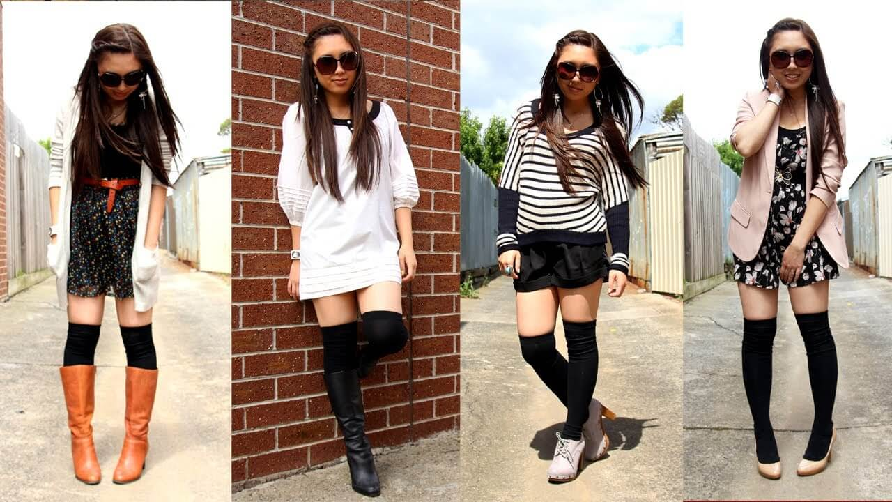 Thigh High Socks: How to Wear Them