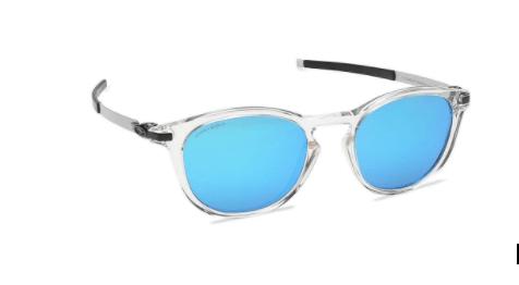 Silver Round Oakley Men Sunglasses